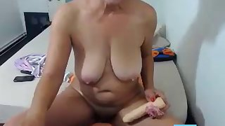 granny fucking a dildo like a crazy webcam
