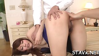 kinky asian pussy stretching