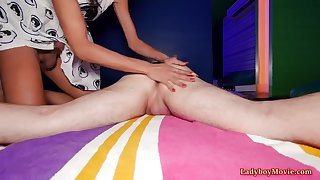 ladyboy natty seduces a guy with massage