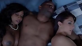 Ebony housewife and friend jizm swapping